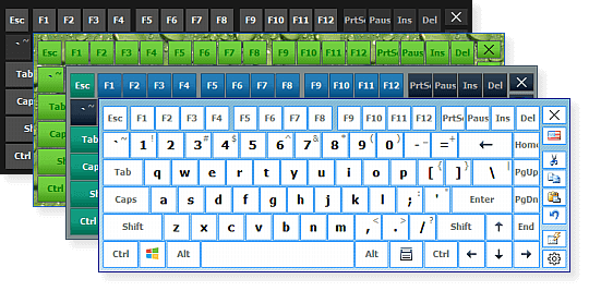 Image de différents designs du clavier virtuel hot virtual keyboard